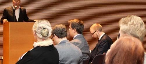 Raúl Romeva con Simon Elo de la ultraderecha finlandesa