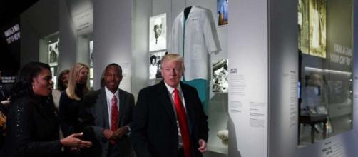 Trump praises new African American museum during first visit ... - chron.com