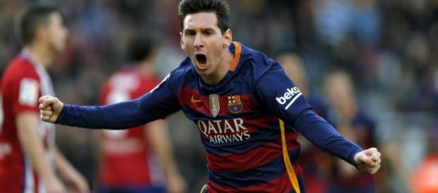 Messi fez gol e Barcelona venceu o Atlético por 2 a 1