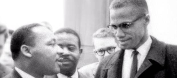 Encontro entre Martin Luther King Jr. e Malcom X (fonte: Wkipedia)