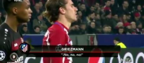 Antoine Griezmann en plein match