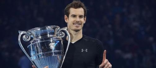 Andy Murray after clinching year end number 1. Sport Scribe - Home - sportscribe.ca (Taken from BN Library)