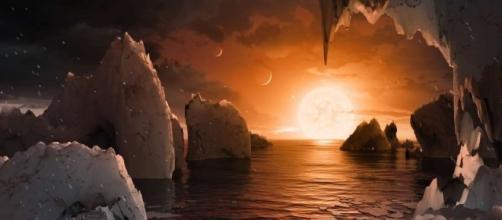 Artist's impression of TRAPPIST-1f from NASA/JPL-CALTECH via abc.net.au