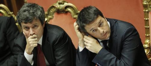 Il ministro Orlando insieme a Matteo Renzi (fonte huffington post)