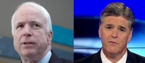 John McCain and Sean Hannity, via Twitter