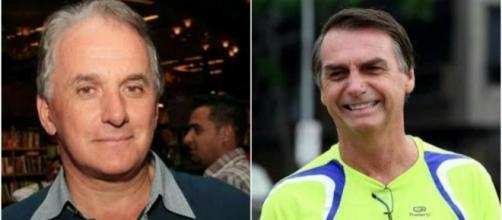 Otávio Mesquita e Jair Bolsonaro