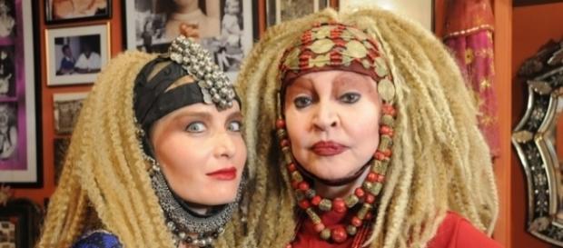 A imortal Elke Maravilha e a apresentadora Angélica