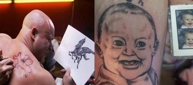 Algumas pessoas acabaram escolhendo o profissional errado para fazer suas tatuagens