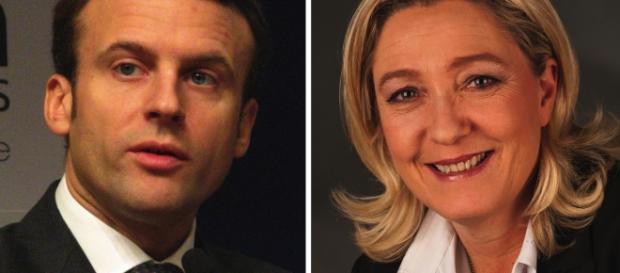 Emmanuel Macron et Marine Le Pen - CC BY