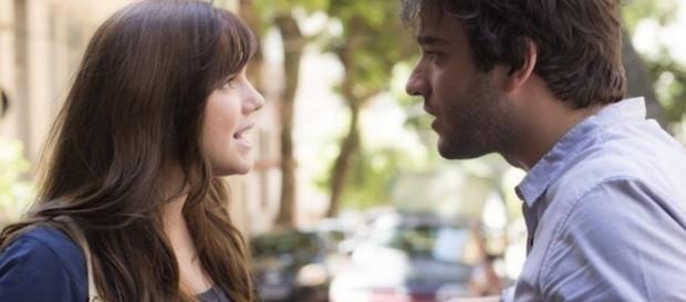 Marina e Tiago na novela 'A Lei do Amor' (Divulgação/Globo)