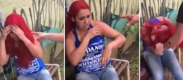 Suposta mulher traída bate em jovem