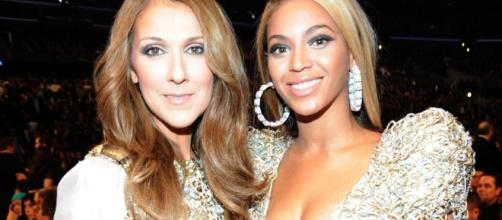 Celine Dion gives Beyonce some words of encouragement Photo Credit: www.lipstickalley.com