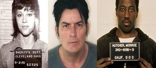 Jane Fonda, Charlie Sheen e Wesley Snipes estão na lista de famosos que já cometeram delitos