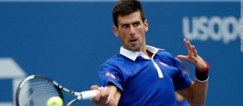 Novak Djokovic hitting forehand during the US Open. - CNN.com - cnn.com (Taken from BN Library)