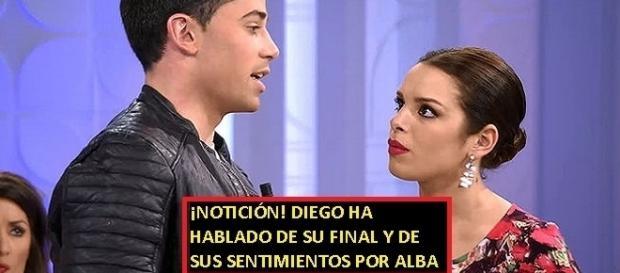 Diego ha adelantado varias cosas de su Final y de lo que siente por Alba, todo en la noticia