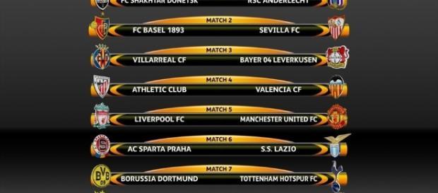 Sorteio para os oitavos de final da Liga Europa