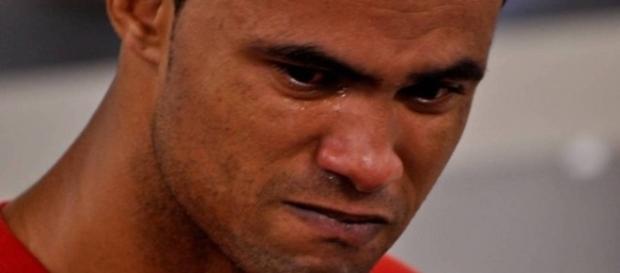 Na imagem o goleiro Bruno no último dia do julgamento que o condenou pela morte da namorada Elisa Samudio, e pelo sequestro do próprio filho.