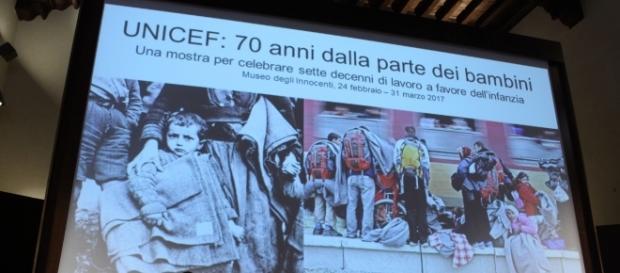 Presentazione Mostra 70° Compleanno dell'Unicef.
