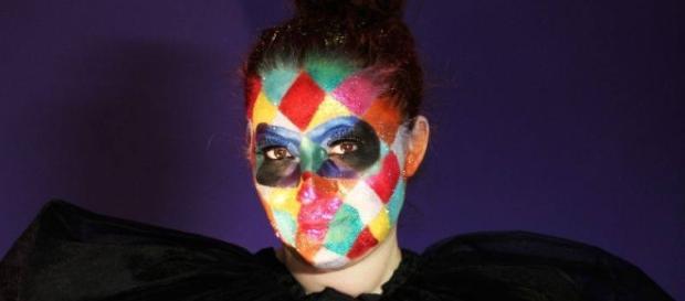 Rossella Regina in versione Arlecchino per Carnevale 2017