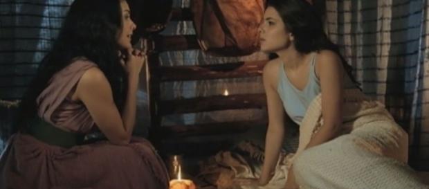 Samara e Aruna na novela 'A Terra Prometida' (Divulgação/Record)