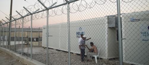Rifugiati nel campo profughi di Souda, Chios, Grecia.