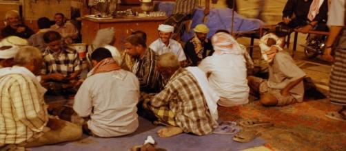 Acentamiento de desplazados en Yemen