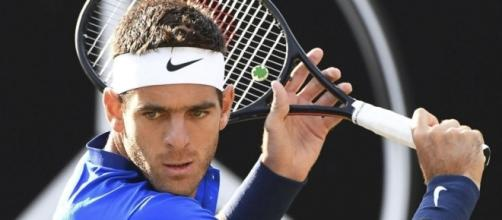 Juan Martin Del Potro hitting a sliced backhand during a match ... - com.ar (Taken from BN Library)