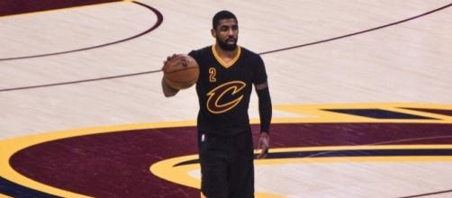 Kyrie Irving and the Cavs host the Chicago Bulls in NBA action Saturday night. [Image via Flickr Creative Commons]