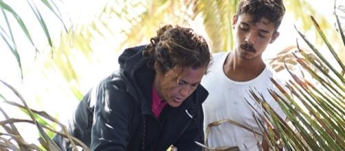 Samantha De Grenet con il rapper Moreno