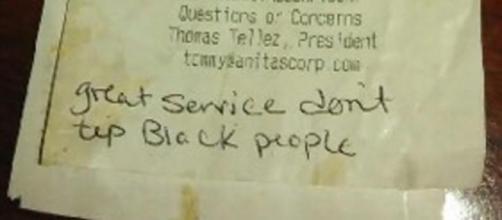 Waitress at Virginia restaurant finds racist note on receipt: 'Don ... - nationalpost.com