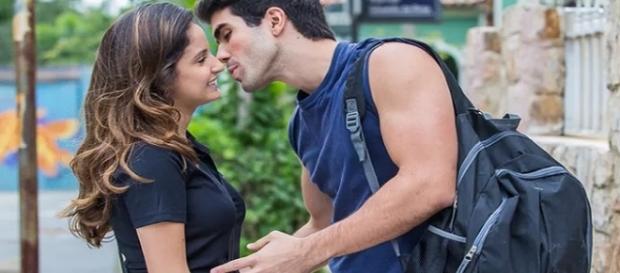 Nanda e Rômulo na novela 'Malhação' (Divulgação/Globo)
