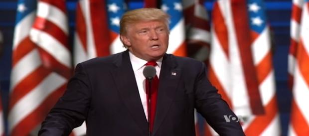 Trump devant la convention nationale républicaine le 22 juillet 2016