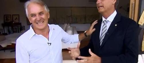 Bolsonaro e Otávio Mesquita já se encontraram em algumas entrevistas