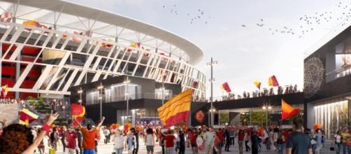 Foto di un ingresso del progetto dello stadio della Roma