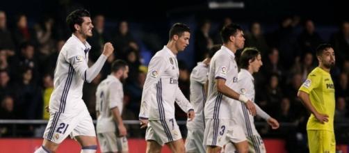 Morata celebra el gol de la victoria