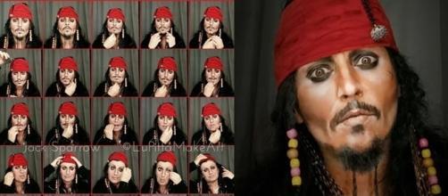 Mulher se transforma em famosos usando maquiagem