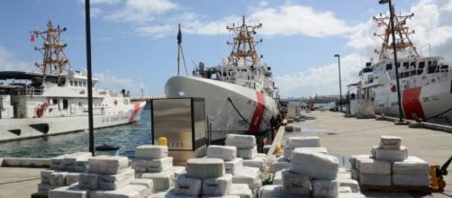 Some of the $125 million worth of cocaine seized by the Coast Guard from a fishing vessel. -- Photo from, used with permission of U.S. Coast Guard