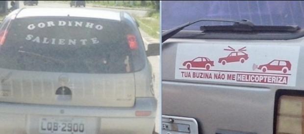 Algumas pessoas fazem propaganda de si mesmo, outros utilizam o humor para mandar uma mensagem educacional