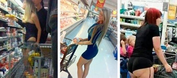 Essas pessoas escolheram as melhores roupas para ir às compras