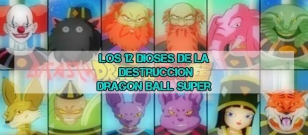 Los 12 dios de la destruccion en Dragon Ball Super by Toei Animation