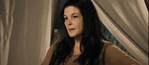 Mara na novela 'A Terra Prometida' (Divulgação/Record)