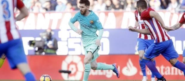 Messi garantiu 3 pontos muito importantes para o Barça.