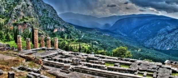 Santuário do Oráculo de Delfos na Grécia Central