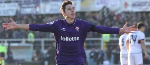 Federico Chiesa dopo un gol contro il Genoa