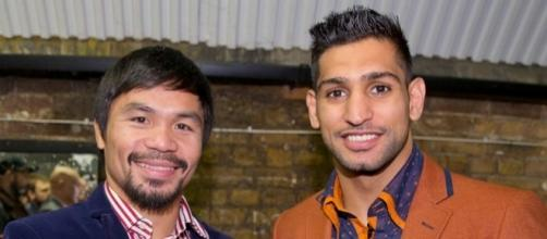 From sparring partners to competitors: Pacquiao vs. Khan set for April 23 / Photo from 'The Mirror' - mirror.co.uk