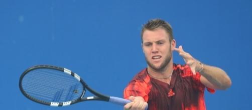 Jack Sock hitting a forehand during the Australian Open. | Talk Tennis - tennis-warehouse.com (Taken from BN Library)