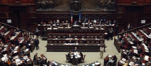 Una sessione della Camera dei deputati