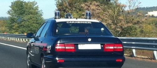 Vettura dell'arma dei carabinieri.