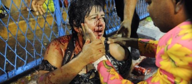 Acidente na Sapucaí deixa 8 feridos, um deles em estado grave (Foto: Alexandre Durão/G1)