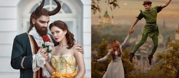 Fotógrafa recria cenas famosos de alguns contos de fadas